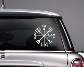 Vegvisir Norse Mythology Viking Vinyl CAR DECAL Pagan Asatru Runic Compass