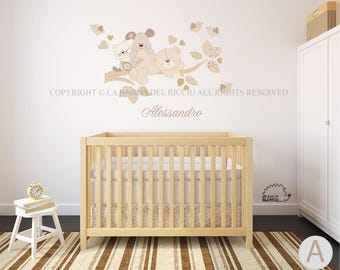 Wall Decal Branch, Baby Wall Decal, Nursery wall decal, Wall Stickers Branch with Name, Pu