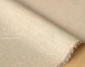 Japanese Fabric Half Linen canvas - natural -  50cm