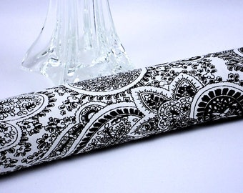 Paisley Draft Blocker, Draft Stopper, Black and White Door Snake, Energy Saver Housewarming Gift, by MeiMei Supplies