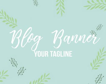 Custom Made Blog Banner Logo