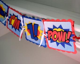 Superhero Comic High Chair Banner