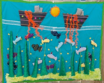 The bottom of the sea - where fish travel!