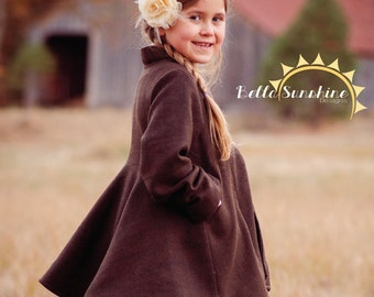 Gabriella, PDF Sewing Pattern, sewing pattern, toddler sewing pattern, girls coat pdf, Girls pattern, sewing, baby coat pattern, girls coat,