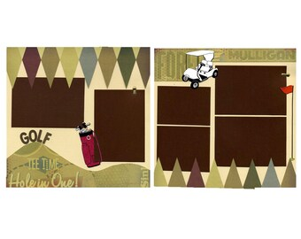 Golf - Two 12x12 Premade Scrapbook Pages