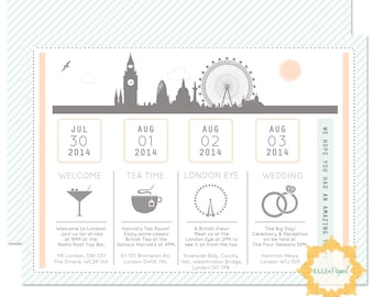 Printable Itinerary for a Wedding! Destiantion Wedding Itinerary, Destination Wedding, Travel Itinerary, Wedding Schedule