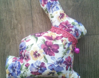 Flopsie the handmade floral Bunny Rabbit soft toy plushie