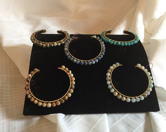 Gemstone Cuff Bracelets