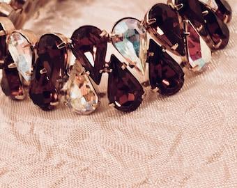 Regal Vintage Rhinestone Statement Bracelet