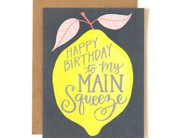 Happy Birthday to My Main Squeeze Illustrated Card // 1canoe2