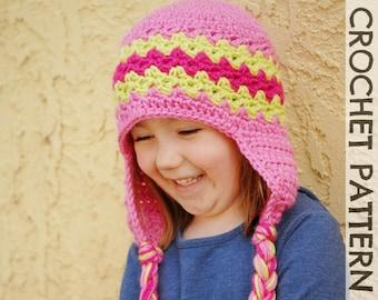 CROCHET HAT PATTERN - Kids Zaggy Beanie
