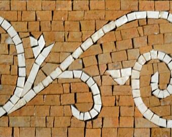 Mosaic Tile Pattern - Ivory Yellow