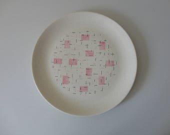 VINTAGE 1950s 'tickled pink' vernonware SERVING PLATE