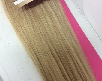 "Golden  blonde (24)  100% human hair clip in extensions   14""  18""  20"""