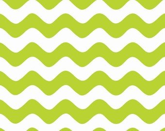 One Yard Wave - Waves in Lime Green - Cotton Quilt Fabric - RBD Designers for Riley Blake Designs - C415-32 (W3291)