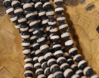 Matt Black Onyx 6-14mm Round Gemstone Beads-15 inch Strand
