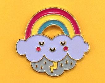 Rainbow Cloud Pin