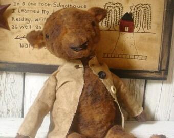 Primitive folk Art Bear