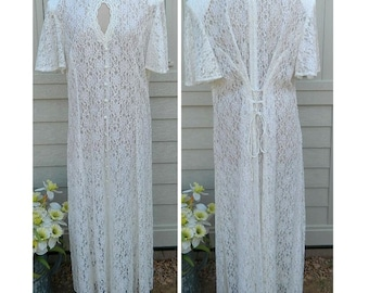 Ivory Lace Wedding Dress - Dawn Joy - Plus Size