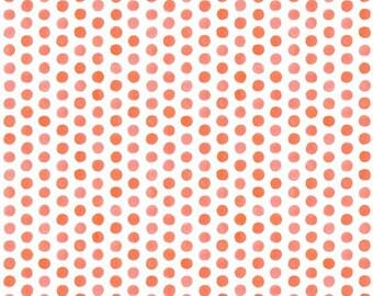 Crib Skirt Watercolor Coral Dots. Baby Bedding. Crib Bedding. Crib Skirt Girl. Baby Girl Nursery. Dot Crib Skirt. Coral Crib Skirt.