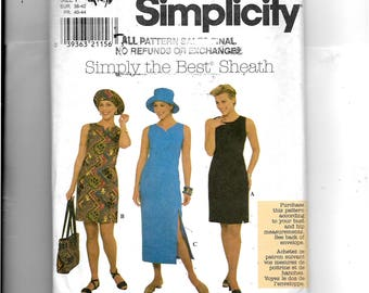 Simplicity Misses' /Miss Petite Dress and Hat Pattern 7958