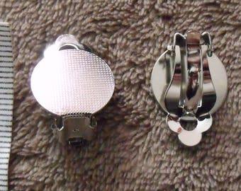 pair of medium silver clip earrings