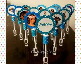 Moana Birthday - Moana party favors - Moana Mini bubble wands - Moana party ideas - Moana - Moana party supplyes  - Moana goodie bags Qty 15