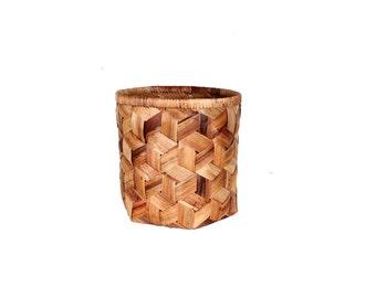 Vintage Woven Basket Bucket
