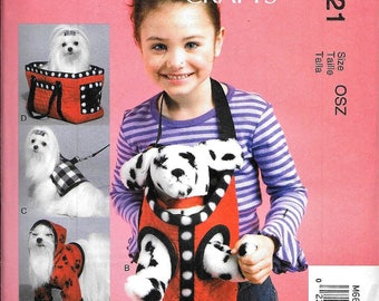 McCall's M6621 Linda Carr Stuffed Animal DOG And Carrier Bag Sewing Pattern UNCUT
