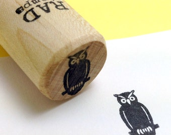 Owl Rubber Stamp, Halloween