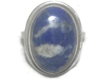 Blue Lapis Ring Size 5 Vintage Lapis Ring Women Boho Ring Size 5 Southwest Ring Southwest Women Ring Size 5 Lapis Lazuli Ring Sterling Ring