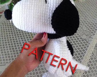 PDF CROCHET PATTERN Snoopy Inspired Amigurumi
