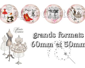 digital images 50mm and 60mm for mirrors or other print couture Paris