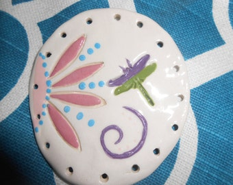 Fun Flowers Pine Needle Base with dragonfly