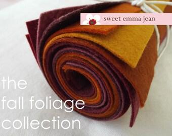 9x12 Wool Felt Sheets - The Fall Foliage Collection - 8 Sheets of Felt