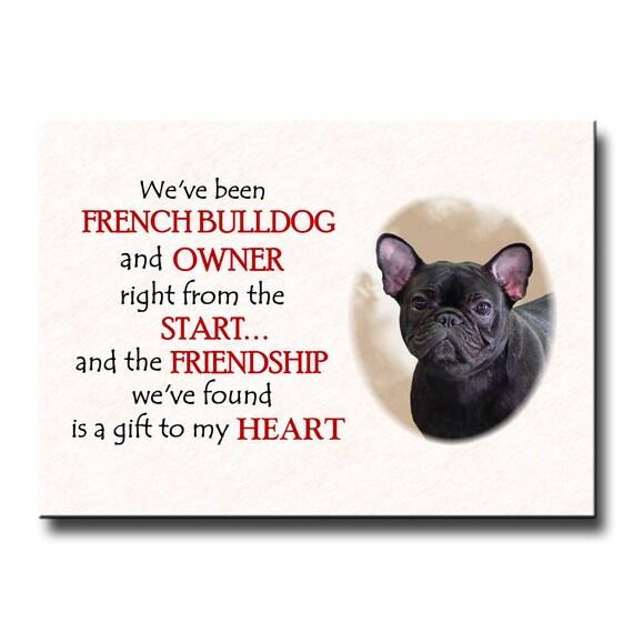 French Bulldog Friendship Fridge Magnet No 4