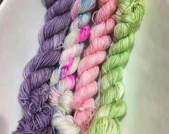 Sock Yarn Mini set of 4