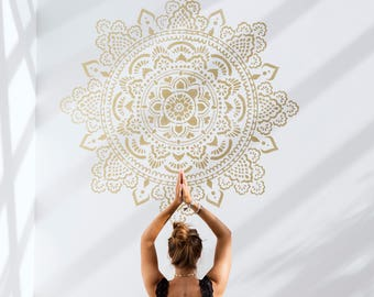 Holy Mandala stencil this is our biggest one 185 by 185 centimeters