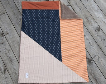 Lined baby blanket