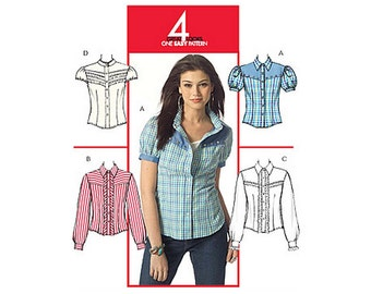 McCall's M5427 Sewing Pattern For Great Looks One Easy Pattern Misses Semi Fitted Shirt with Yoke and Collar sz 6 thru 14 Uncut