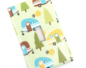 Camper Light Switch Plate Cover