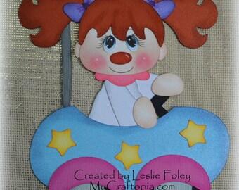 Car Clown Scrapbooking Embellishment Paper Piecing