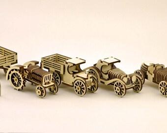 Retro cars (pack! 4 models) - Digital files
