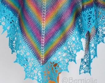 PAULA, Knit & crochet shawl pattern pdf