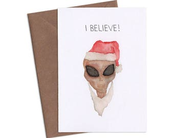 I Believe, Halloween Greeting Card, Subversive Cards, Funny Greeting Cards, Adult Cards