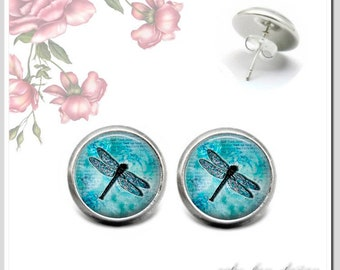 Stud Earrings 5 Version colors to choose Dragonfly 3 OSH-012-103
