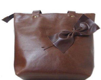 Odyssa Dark Brown Leather Tote