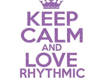 Keep Calm Rhythmic Iron On Decal