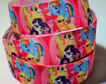 My Little Pony-Grosgrain Ribbon -1 x Metre-  22mm - DIY Hair Accessories