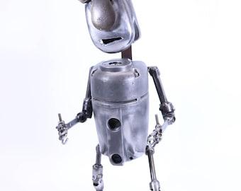 Big Hank found object robot sculpture assemblage junk metal art